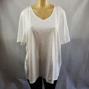 Chico's White Ultimate Tee Size XL =Chico's Size 3